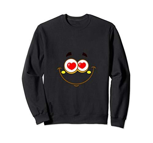 süßes herz augen liebe emojis emoticon happy smiley emoji Sweatshirt