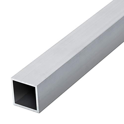 thyssenkrupp Vierkantrohr Alu 20 x 10 x 2 mm in 1000 mm Länge | Reckteckrohr Aluminium | EN AW-6060