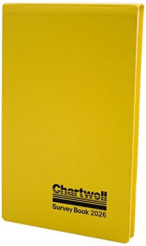 Chartwell Survey 2026Z - Bloc de notas, 80 páginas, 130 x 205 mm, color amarillo