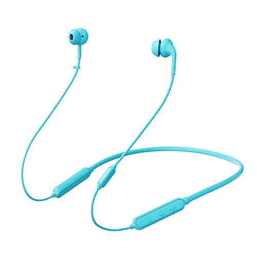 233621 Wave. Bluetooth 5.0 Wireless Neckband Headphones. 15 Hrs Playtime, Stable, Reliable, Fast Pairing, Bluetooth 5.0, Calling Noise Reduction, IPX5 Waterproof & Skin-Friendly (Blue)