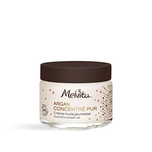 Melvita - Crème Anti-âge Certifiée Bio Argan Concentré Pur - Crème Naturelle à 90% - Pour une Peau Raffermie et Lissée - La Douceur d'une Crème, la Nutrition de l'Huile d'Argan - Pot 50 ml