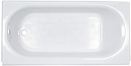 American Standard 2394202.020 Princeton Luxury Ledge Americast Apron-Front Bathtub with Left Hand Drain, 60 in x 34 in, White