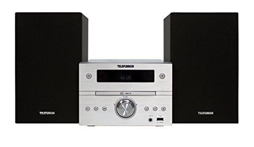 Telefunken MC1001BM Bluetooth-Stereoanlage (PLL-Tuner,CD/CD-R/CD-RW, USB, Aux-In, Fernbedienung)