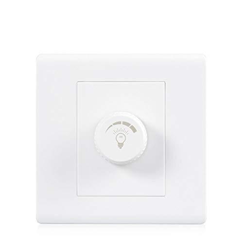 Foicags Placa de interruptores de la perilla blanca Lámpara 86 Tipo Interruptor de pared Panel de panel Interruptor de atenuación interior Hogar comercial Hotel Restaurante Lámpara Lámpara Controlador