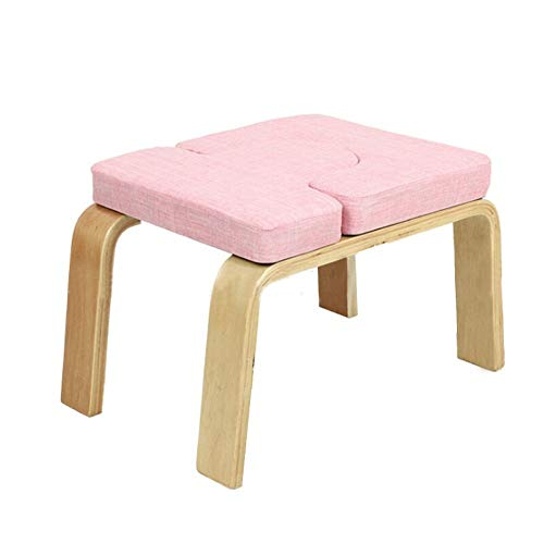 Fantastic Deal! Yuehjnba Yoga Upside Down Stool Yoga Inversion Chair Wooden Yoga Asana Practice Equi...