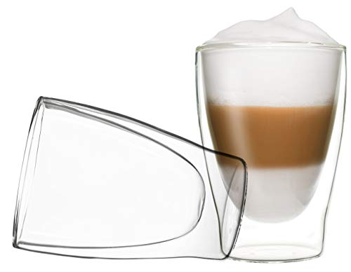DUOS 2X 310ml Set doppelwandige Thermo Gläser, Tee, Latte Macchiato by Feelino