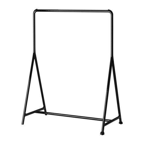 IKEA TURBO -Kleiderständer schwarz - 117x59 cm