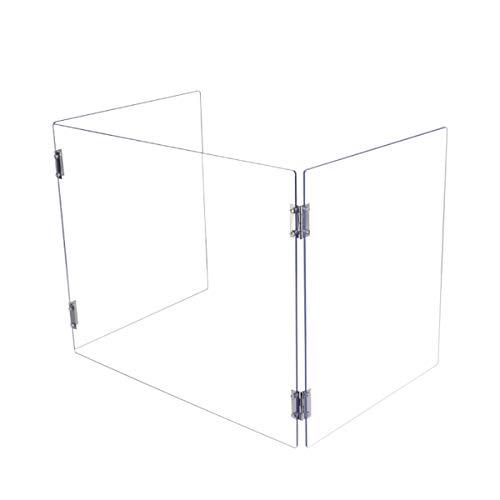 NXW Schutzschild Nieschutzplatte Für Theke Und Schreibtisch, Plexiglasbarriere, Klarer Acrylschild Für Geschäfts- Und Kundensicherheit, Durchgangs-Transaktionsfenster,L35*R35*H40