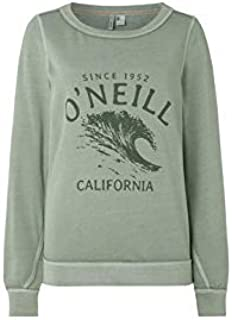 Ladies Sweatshirts /& Jumpers White O/'Neill Essential Logo Sweatshirt