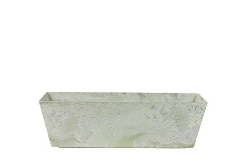 Artstone Balkonkasten, Pflanzgefäß Ella, frostbeständig und leichtgewichtig, eukalyptus, 55x17x17 cm, 135666