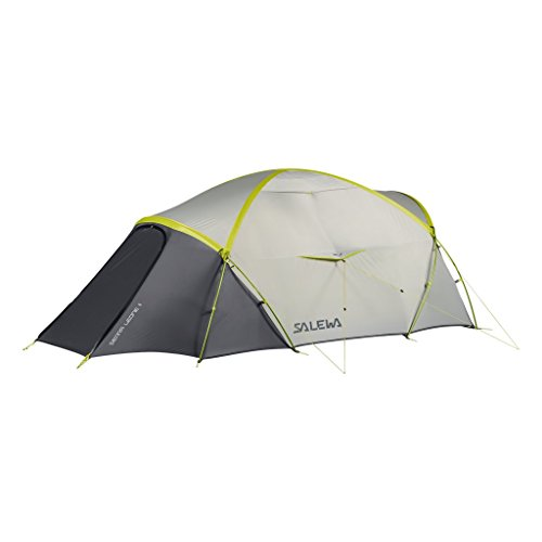 Salewa Sierra Leone II Unisex Outdoor Curtain Tent available in Lightgrey/Cactus - One Size