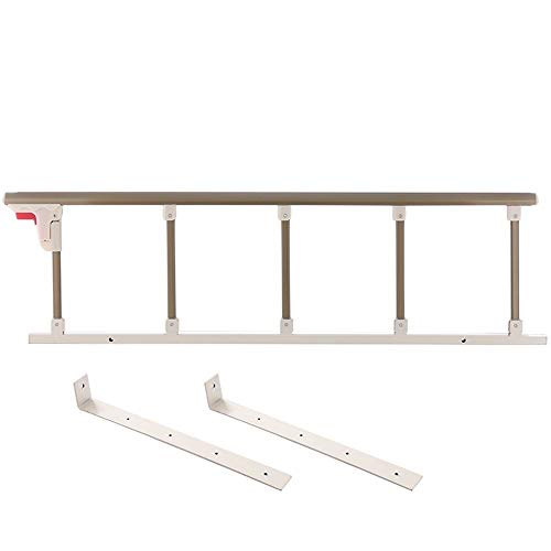 GJQBT-ICE Safety Side Guard for Elderly, Folding Bed Assist Bar Handle Medical Supply Hospital Metal Bed Railing- 95/120cm Long (Color : B, Size : 120x13cm)