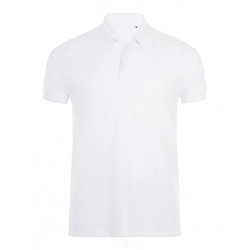 SOLS Herren Phoenix Kurzarm Pique Polo Shirt (M) (Weiß)
