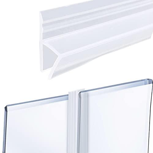 Lvjkes Sello de mampara de ducha, Junta de puerta de ducha, Tira de sellado de puerta de pantalla de 8 mm DIY para evitar el flujo de agua para puerta de ducha de vidrio (1x200CM)