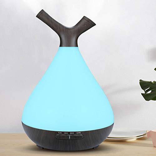 JIAN Luchtbevochtiger Aroma Diffuser 400ml aromatherapie geuren Humidifier voor etherische oliën kamerbevochtiger geurlampen vochtafgifte voor kamer, kantoor, yoga, spa, enz. LED-nachtlampje met 7 kleuren