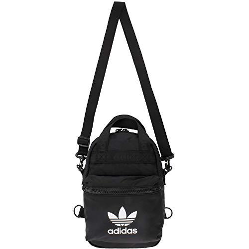 adidas Originals Micro mochila pequeña mini bolsa de viaje, Micro Mochila Pequeña Mini Bolsa de Viaje, Negro, Una talla