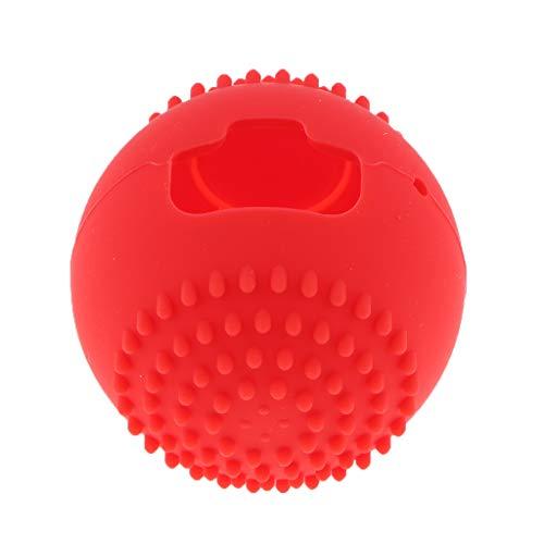 perfk Couverture Peau Souple Protecteur Coques pour Nintendo Switch Poke Ball Plus Consoles Contrôleurs - Rouge