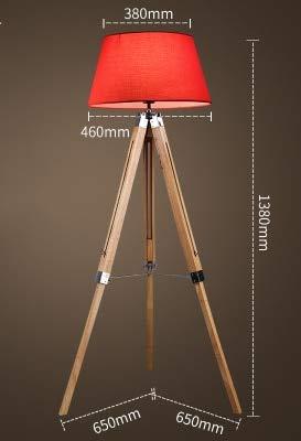 WUYUESUN American Vintage Lámpara de pie Ajustable Trípode Lámparas de pie for Sala de Estar Dormitorio Dormitorio Decoración Luz Home E27 Lámpara de pie (Lampshade Color : N)