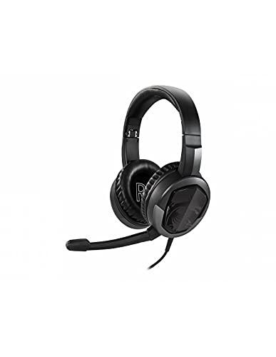 MSI Immerse GH30 Gaming Headset v2 (Gaming Headset, kabelgebunden, 40 mm Neodym Driver, 20 Hz - 20 Khz, 3,5 mm Klinkenstecker, schwarz, 222 Gramm, kein RGB)