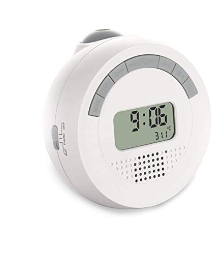 GANNU Digital Projection Alarm Clock with FM Radio, Room Temperature, Backlight & Adjustable Projector to Display Time on Ceiling or Wall