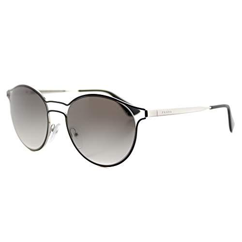 Prada Damen 0Pr62Ss 1Ab0A7 53 Sonnenbrille, Schwarz (Black/Silver/Greygradient)
