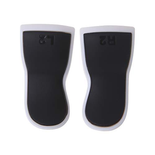 Qintaiourty 1 paire de rallonges tactiles L2 R2 Touch Grip Extender Cover Cover Accessoires de jeu pour manette PlayStation PS 4