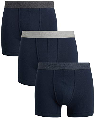 Lucky Brand Men's Cotton Modal Boxer Briefs (3 Pack), All Blues, Size Large'