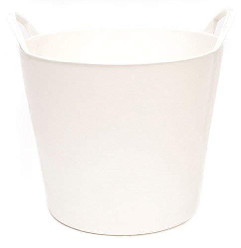 Capazo Plástico 26L Colores (Blanco)