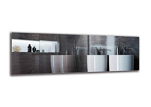 Espejo Standard - Espejo sin Marco - Dimensiones del Espejo 150x50 cm - Espejo de baño - Espejo de Pared - Baño - Sala de Estar - Cocina - Hall - M1ST-01-150x50 - ARTTOR