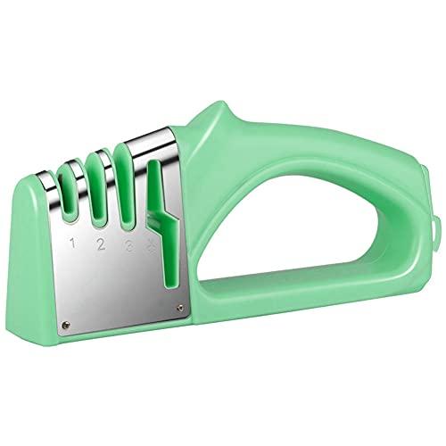 BAWAQAF Sacapuntas de cuchillo,4 en 1 multifunción diamante afilador de cuchillos,Tijeras recubiertas,Sistema de piedra cuchillas de acero inoxidable