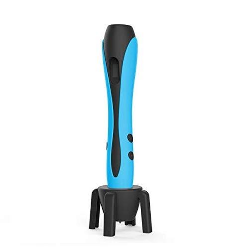 Penna 3D Blu con Display LCD, Motore Militare, 2 Dita, 9 Stencil di Carta, 12 Colori PLA, 1 Portapenne/Compatibile con Filamenti PLA & ABS/JIAMA JM-B661