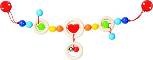 Heimess Kinderwagenkette Herz mit Clips