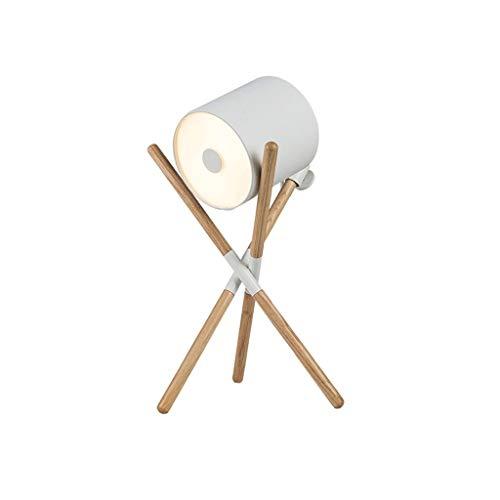 Lámparas de mesa Lámpara De Escritorio Con Patas De Madera Sólida Pulsador Trípode LED Lámpara Minimalista Lámpara De Cabecera, Lámpara De Mesa For Sala De Estar Dormitorio Lámparas de escritorio