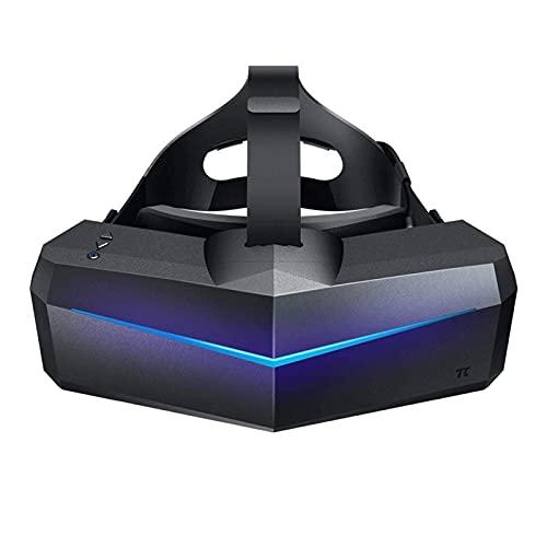 QCHEA Vidrios VR, Auriculares de Realidad Virtual de 5K Plus VR con Amplio 200 ° FOV, Dual 2560x1440P RGB Paneles LCD y 6 DOF Seguimiento