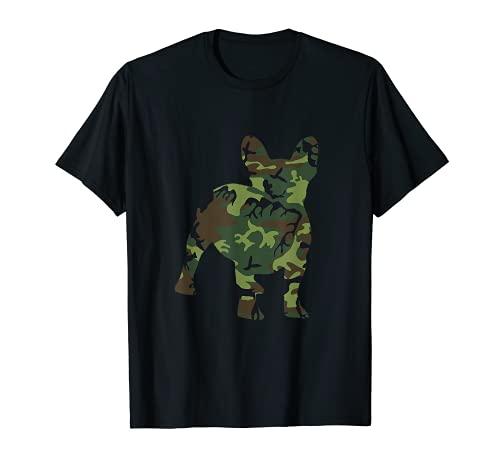 French Bulldog Camouflage Dog Camo Frenchie Owner Military T-Shirt