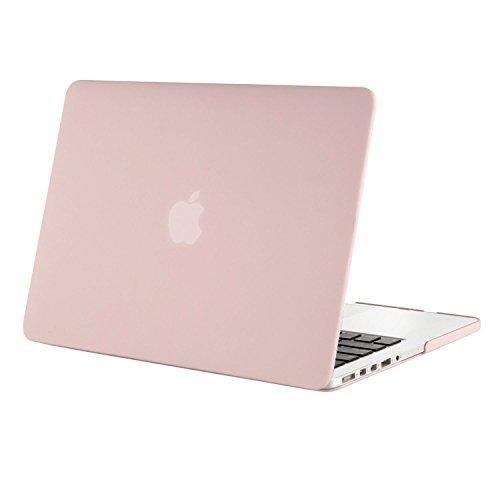 MOSISO Hülle Kompatibel mit MacBook Pro 15 Retina - Ultradünne Plastik Hartschale Hülle Kompatibel mit MacBook Pro Retina 15 Zoll (Modell: A1398)(Release 2015 - Ende 2012), Rosenquarz