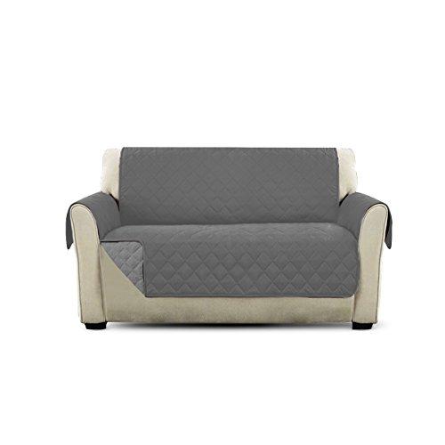 PETCUTE Lujo Cubre Sofa Fundas de Sofa para Perros Protector de sofá Dos plazas Gris
