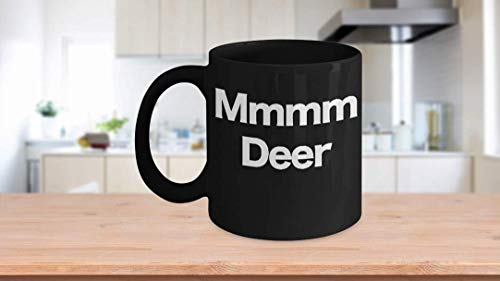11 oz Coffee Mug, Tea Cup, Deer Mug - Black Coffee Cup - Funny Gift for Deere Hunter, Dad, Grandpa, John,
