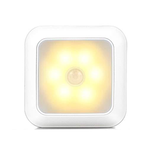 Buhui 6 LED Night Light Motion Sensor Wall Closet Cabinet Stair Wireless Lamp for Home