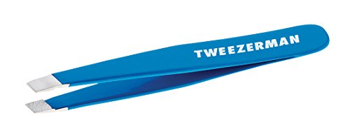 TWEEZERMAN Studio Collection Mini Slant Tweezer Pinzette ,bahama blue,1er Pack (1 x 1 Stück)