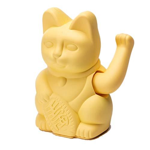 Pureday Figura Decorativa Winkekatze-Japonesa Lucky Cat-plástico-Altura sobre 16 cm - Amarillo