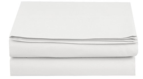 Elegant Comfort Luxury Flat Sheet on Amazon Wrinkle-Free 1500 Thread Count Egyptian Quality 1-Piece Flat Sheet, California King Size, White
