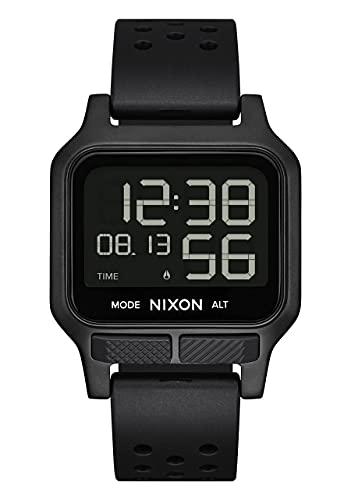 Nixon Damen Digital LCD-Digitalmodul Uhr mit Silikon Armband A1320001-00