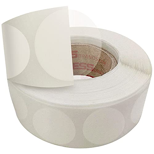 Mailing Seals Envelope Sealer Clear Dot Stickers 1 Inch (1,000/Roll) Round Mailing Wafer Seals and Mailing Tabs - Better Envelope Sealer Than Tape - Circular Sticky Transparent Dots
