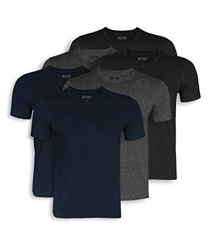 BOSS Hugo Herren T-Shirts Business Shirts Crew Neck 50325887 6er Pack, Blau (Open Blue 497), XL