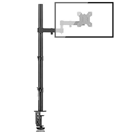 Bracwiser einzelnen Voll einstellbare Stehhöhe Monitorarm Standhalterung 800 mm hoch für Monitor Computerbildschirm 13 15 17 19 20 22 23 24 26 27 30 32 Zoll VESA 75 100 MD7821