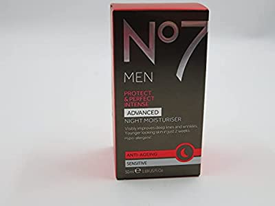 No7 Men Protect & Perfect Intense - ADVANCED Night Moisturiser - Anti Ageing - Sensitive - 50ml from Anti-wrinkle Moisturiser For Men