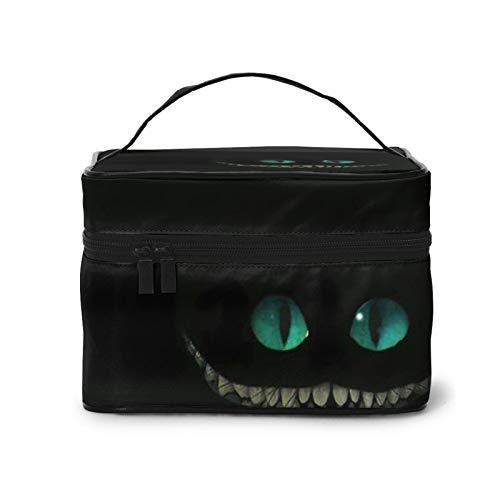 Cheshire - Bolsa de maquillaje para gatos, impermeable, con cremallera dorada, portátil, de mármol, organizador de maquillaje para mujeres, bolsas de aseo para viajes