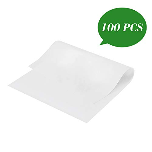 Parchment Paper Baking Sheets, 9 x13 Inches Pre-cut Non-stick Greaseproof Baking Paper Liner Cookies Paper Sheet for Cook, Grill, Steam, Baking Pan White (100 Pieces)