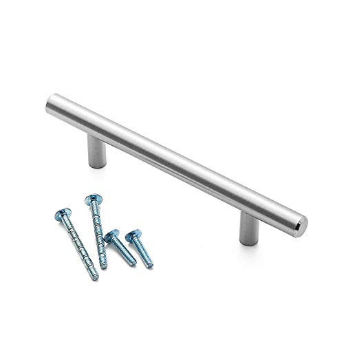 Cabinet Handles Door Handle Drawer Handles Euro Style bar Handle, Satin Nickel,25 Pack